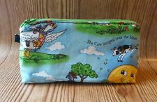 Nursery Rhyme Mother Goose Wristlet Back to School Pencil Pouch Purse Bag