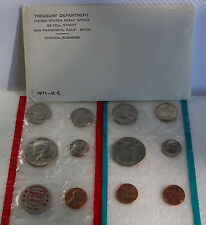 1971 P and D United States Mint Uncirculated 11 Coin Set BU Coins as issued