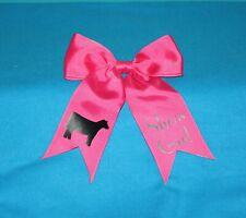 Monogrammed Heifer Hair Bow - Cow Livestock Shower Hair Bow - Custom Hair Bow