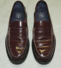 COLE HAAN PINCH MAINE CLASSIC LOAFERS BURGUNDY LEATHER MEN'S SIZE 8 1/2 M EUC!!
