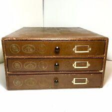 Ancien Meuble de mercerie Boîte Bois 3 tiroirs Fil Cartier Bresson ( DMC ) N°2