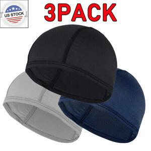 3PACK Cooling Sport Sweat Skull Cap Cycling Helmet Liner Head Wrap Do Doo Beanie