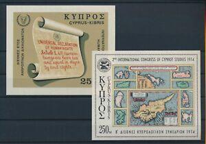 LN52350 Cyprus human rights cypriot studies congress sheets MNH