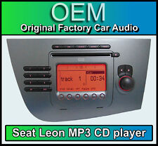 Seat Leon CD player, MP3 car stereo radio, supplied with radio code