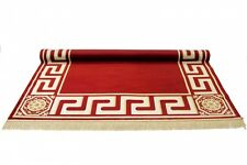 TAPPETO Rosso Rayon Mäander Medusa mobili Carpet 100 x 140 cm versac