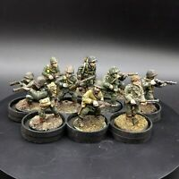 Painted 28mm Bolt Action us winter infantry ×10 Squad #2 old bolt action casts