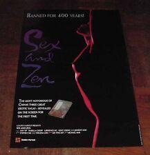 "Amy Yip Ji-Mei ""Sex and Zen"" Isabelle Chow Original Overseas English 1991 Poster"