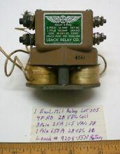 1 Mil Power Relay Encl. 28VDC, 25/150A, 4PNO, Leach # 9204-55N Lot 305, Made USA