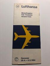 Lufthansa Timetable 1964 Hannover