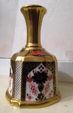 Pristine 1983 Royal Crown Derby OLD IMARI Solid Gold Band Dinner Bell