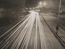 VINTAGE ARTISTIC ABSTRACT STREET SCENE TRON LIKE BRIGHT LIGHTS FAST CARS PHOTO