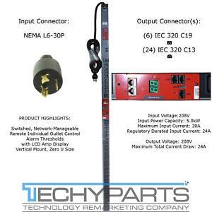 Server Technology STV-4501C 5.0kW 208V L6-30P PRO2 Switched Master PDU C13 C19