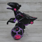 Purple Black MiPosaur Robotic Dino Toy w/ Track Ball Dinosaur Missing Tail Works