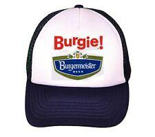 Vintage Burgermeister Beer hat Burgie beer hat Trucker Hat mesh hat Navy