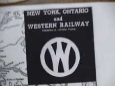 New York Ontario & Western RR Co - July 2, 1943 - 16 x 20 System Map