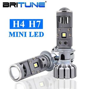 H7 H4 Mini LED Projector Lens Bi-led Headlight Car Lights Accessories 12V 5500K