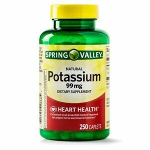 Spring Valley Potassium  99 mg  250 Caplets