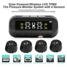 USB+Solar Car TPMS Tire Pressure Monitor Alarm System with 4 External Sensors