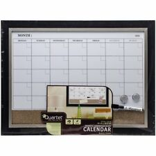 Large Dry Erase Wall Calendar White Board Monthly Planning One Month Planner Set
