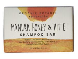 Organik Botanik Australia Manuka Honey & Vit E Shampoo Bar 250g/8.82oz Hydrating