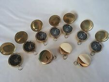 Brass Vintage Lid Compass 45mm Lot Of 10 Pcs Marine Collectible Decorative