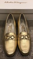 $795 New Salvatore Ferragamo Ladies Shoes Archives Creations Womens Size 7 , 37