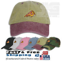 Pizza Embroidery Dad Hat Baseball Cap Adjustable Unconstructed