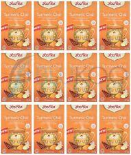 Yogi Tea Turmeric Chai - 17 Teabags (Pack of 12)