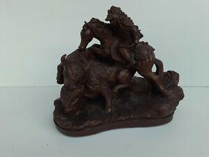 "LARGO Limited Edition 1499/7500 Western Sculpture Buffalo Hunter 11""X13"""