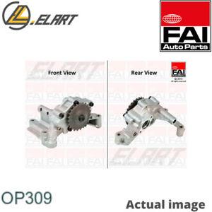 Oil Pump for VW,AUDI,SEAT,SKODA PASSAT Variant,3C5,BWV,BKP FAI AutoParts OP309