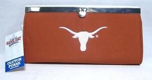 University Of Texas Longhorns Ladies Clutch Purse Chain Fashion Wallet Handbag
