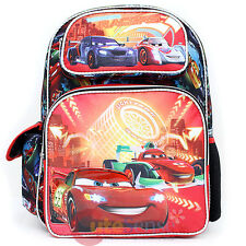 """Cars Mcqueen Large School Backpack 16"""" Book Bag with Francesco - Neon Light"""