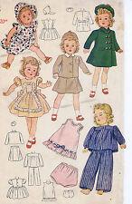 "4851-2538 Vintage Slender Doll Pattern -- Size 24""-- Year 1934"
