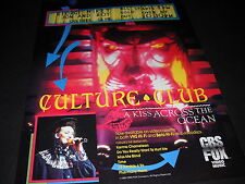 CULTURE CLUB Kiss Across The Ocean BOY GEORGE 1984 PROMO DISPLAY AD mint