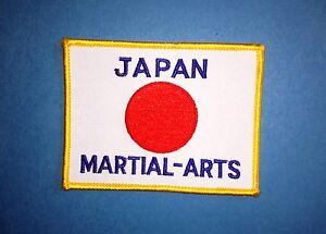 Vintage 1970's Japanese Japan Flag Martial Arts Uniform Jacket Patch Crest 467