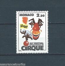 MONACO CIRQUE - 1986 YT 1550 - TIMBRE NEUF** LUXE