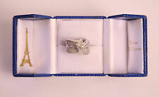*SONIA BITTON* 14kt WG Diamond Pave Designer Ring sz 5 - IN ORIGINAL BOX w CARD!