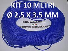 10 METRI TUBO SILICONE Ø 2.5 X 3.5 mm. ILLUMINAZIONE LUCI LED. COLORE BLU.