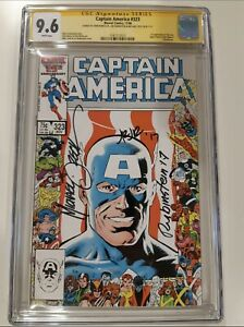 Captain America 323  CGC 9.6 - 3 Autographs -1st John Walker/US Agent- Rare Book