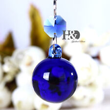 1PC Blue Crystal Round Ball Prism Hanging Drop Suncatcher Pendant Wedding 30mm