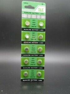 AG1 X 10 LR621 364 SR60 T&E  Alkaline Button Cell Battery