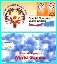 Special Olympics World Games Imperf Pair First Day Cover with Color Cancel