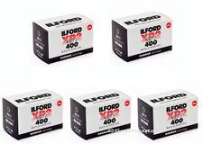 5 Rolls Ilford XP2 Super 400 36 Exp. Black and White 35mm Negative Film, FRESH