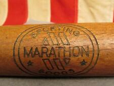 "Vintage Marathon Sporting Goods Wood Baseball Bat Official 33"" Great Display!"