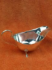 More details for antique sterling silver hallmarked gravy sauce boat 1925, william hutton & sons