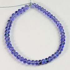 3.7MM-4.8MM Tanzanite Smooth Rondelle Bead 6 inch strand