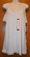 Womens Pretty Lace Trim NorthCrest Sleeveless Tank Shirt Size XL NWT NEW