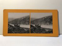 Falkenburg Bord Del Reno Germania Foto Stereo Vintage Analogica