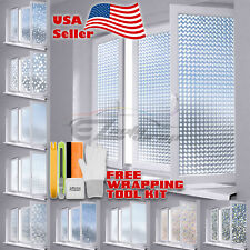Premium Window Frosted Film Glass Home Office Bathroom Security Privacy Static