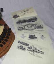 Hammond Typewriter 5 Reproduction Letterheads.